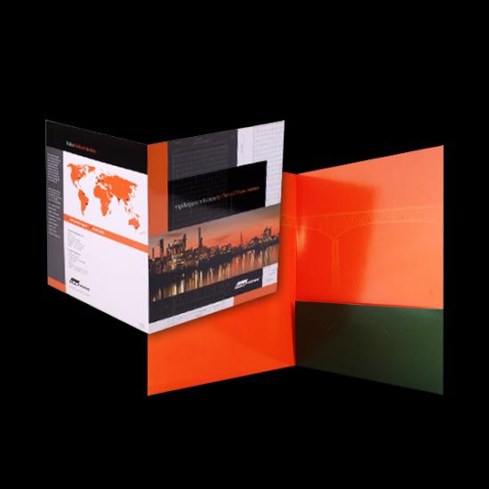 Gloss Laminated Pocket Folders printing