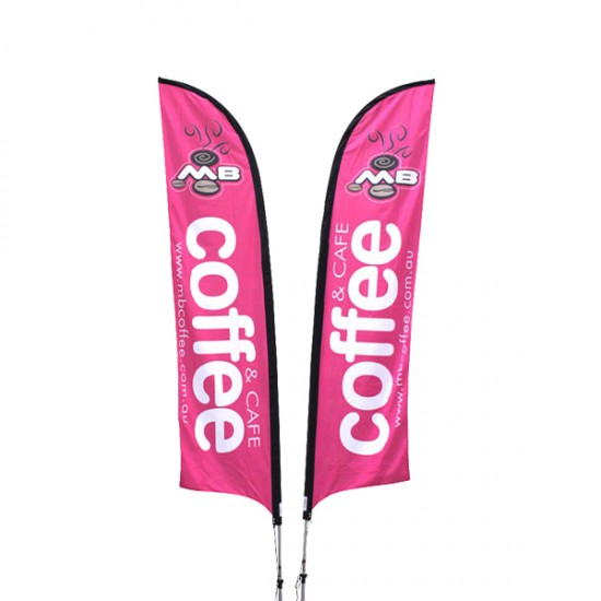 Feather Promotional Flags printing
