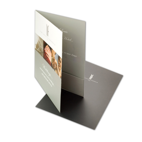 Matte Laminated Pocket Folders printing