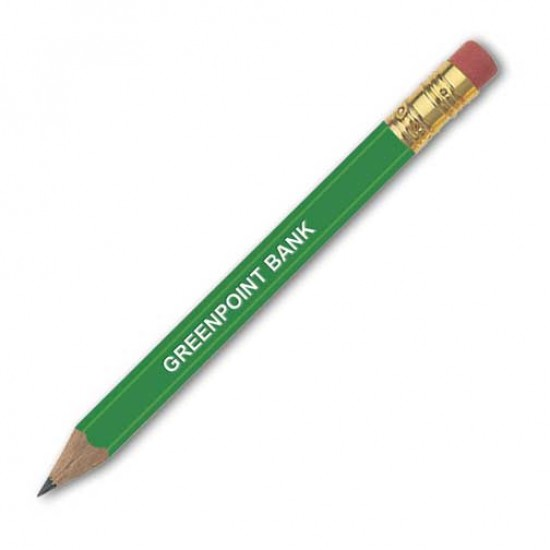 Golf HEX Pencil With Eraser printing
