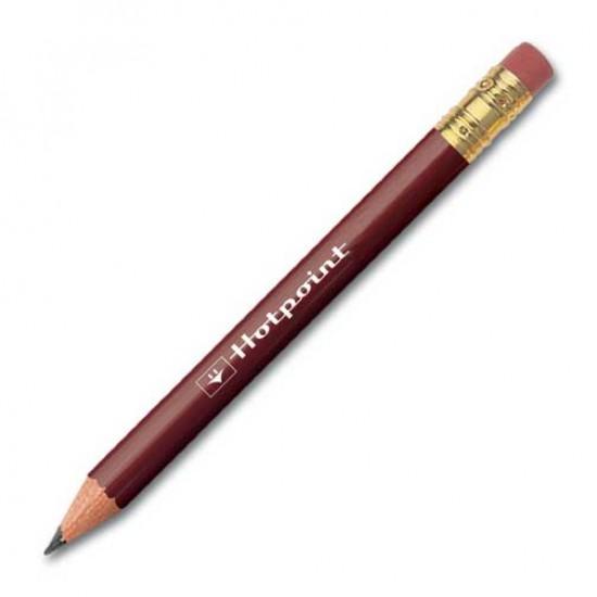 Golf Round Pencil With Eraser printing