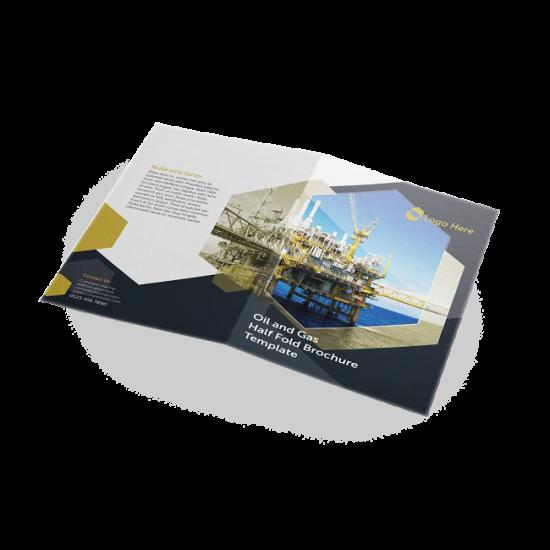 8.5x14 Half-Fold Brochures printing