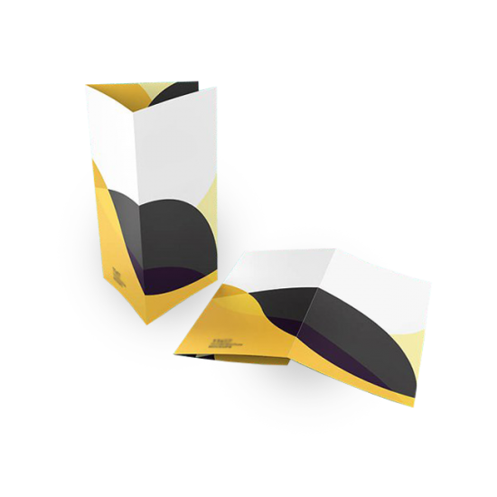 Impression de Dépliant 8.5x14 Pli Enveloppant