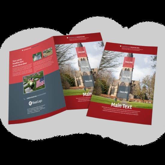 8.5x11 Half-Fold Brochures printing