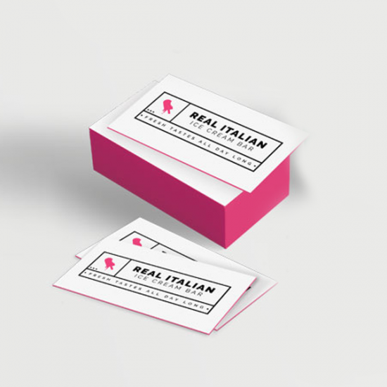 Coloured Edge Business Card 32 pts. printing