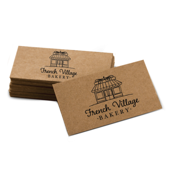 Kraft Business Cards printing