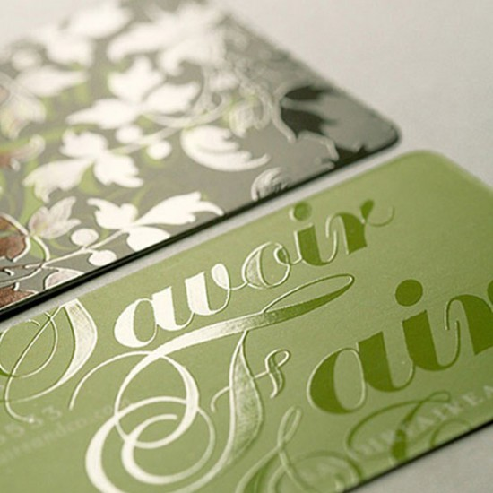Mattle Laminated Business Cards with Spot UV printing