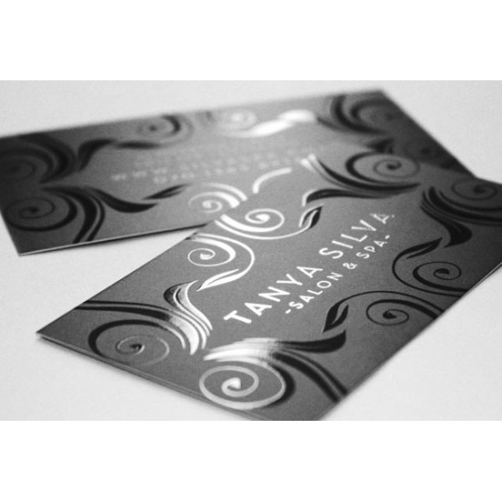 Soft Touch Laminated Business Cards with Spot UV printing