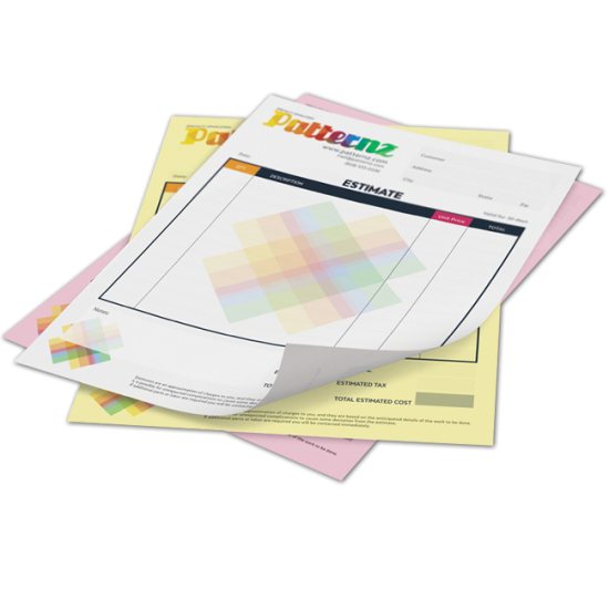 8.5x11 NCR Forms printing